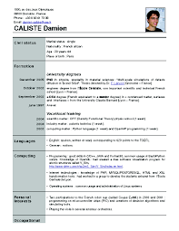 Best Resume In India by Format New Format Of Resume