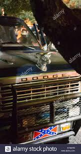 Confederate Flag Pickup Truck Dodge Ram Pickup Truck With Confederate Flag Stock Photo Royalty