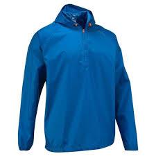 rain cut men s hiking waterproof rain jacket blue quechua