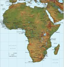 africa map elevation maps of america