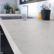 decoupe de marbre plan de travail aggloméré blanc marbré mat l 246 x p 63 5 cm ep
