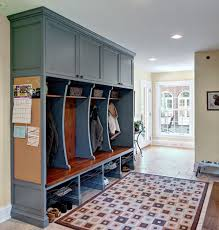 bulletin board design home office transitional with built in desk