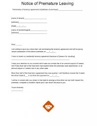 Notice Of Termination Of Agreement by End Of Tenancy Letter Templates