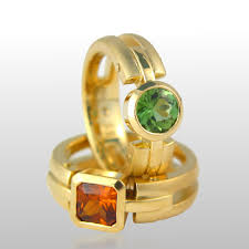 fine art rings images 18k gold rings 39 millennium 39 tourmaline and mandarin garnet