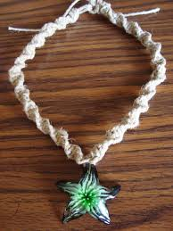 glass star pendant necklace images Gorgeous green glass star pendant spiral knot hemp necklace within jpg