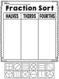 fractions first grade printables pinterest fractions first