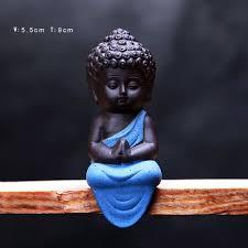 miniature buddha statue statuette yoga decor ceramic handicraft