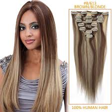 inch reasonable clip in human hair extensions 8 613 7 pieces