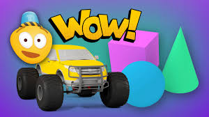 monster truck video for toddlers learn 3d shapes and race monster trucks monster truck stunts