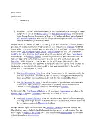 Council Of Chalcedon Teachings Montanism Docx Arianism Religious Comparison