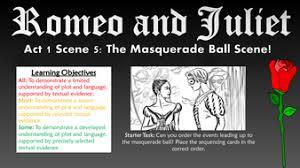 Romeo And Juliet Act I Scene V The Masquerade Ball Scene By Romeo And Juliet Powerpoint Template