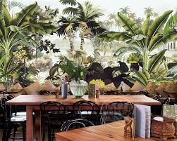 online buy wholesale hand painted tree murals from china hand beibehang 3d wallpaper nostalgic hand painted rain forest banana tree monkey mural background wall wallpaper for