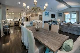 Restoration Hardware Dining Room Cottage Great Room With Exposed Beam Undermount Sink In Santa