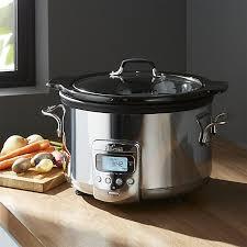 all clad slow cooker 4 quart crock pot crate and barrel