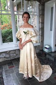 everyone has seen this bride u0027s 120 year old dress except one