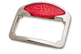 motorcycle license plate frame with led brake light led cat eye system kit license plate tail light turn signal from