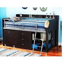 storage loft bed with desk charleston storage loft bed with desk espresso walmart com
