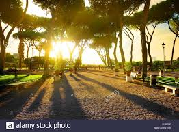 giardino aranci roma giardino degli aranci in rome at sunset italy stock photo