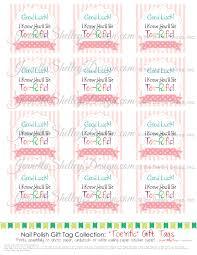 instanat download diy printable nail polish gift tags