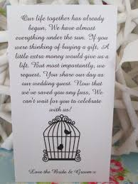wedding gift quotes for money 25 wedding money poem cards for your invitations free uk shipping