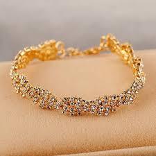 bracelet women images Gold silver crystal rhinestone chain bracelet women jewelry us jpg