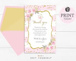 thank you cards for baby shower baby shower thank you cards etsy