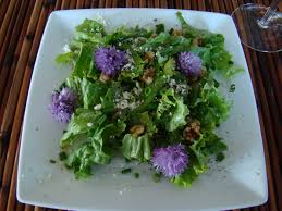 Salad With Edible Flowers - chive flower salad making history tart u0026 titillating