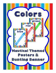 themed posters nautical theme colors posters and bunting banner color posters
