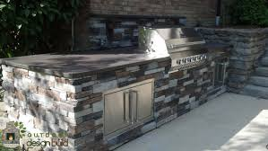poolside grill station outdoor design build