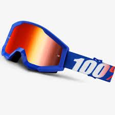 motocross goggles ebay 100 percent strata youth nation mirror blue lens motocross