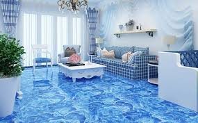 Blue Ceramic Floor Tile Hot Sale Decorative Light Blue Ceramic Floor Tile Designs For
