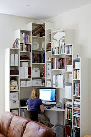 Office Shelf Decorating Ideas 57 Cool Small Home Office Ideas Digsdigs