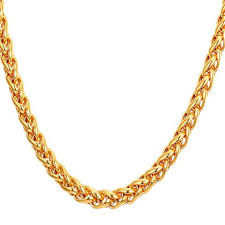 stainless gold necklace images Stainless steel gold chains for men kjselections jpg
