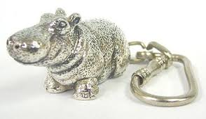 sterling key rings images Sterling silver hippo key chain key ring key rings plating jpg
