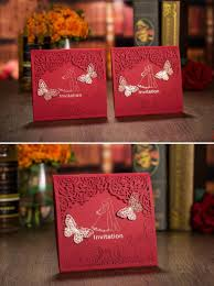 Personal Wedding Invitation Cards Red Color European New Designs Wedding Invitation Personalized