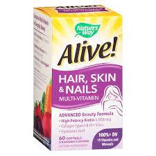 nature u0027s way alive hair skin nails multi vitamin softgels