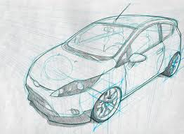 car drawing techniques behance