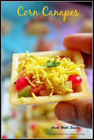 easy vegetarian canapes corn canape recipe corn sev canape canape chaat corn chaat canape