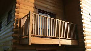 House Wooden Balcony With White Railings Youtube