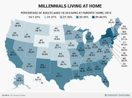 millennials living at home state map business insider