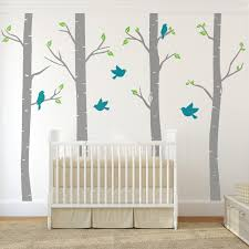 Tree Nursery Wall Decal Outstanding Birch Tree Wall Decal Ideas For Home Interior
