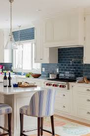 white kitchen cabinets with blue tiles 25 beautiful kitchens with backsplashes kitchen