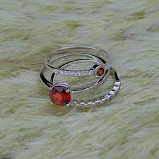 birthstone stackable rings for girl trendy fashion 1 50ct 100 genuine