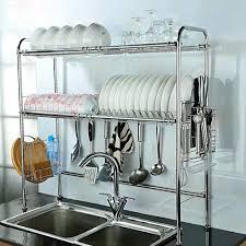 Closetmaid Dish Drainer Nex 2 Tier Stainless Steel Dish Rack Nonslip Height Adjustable