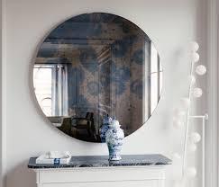 dark round antique mirror 23