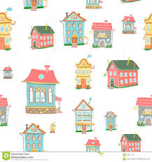 vector cute cartoon houses stock vector image 50261775