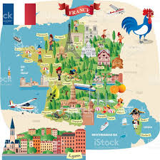 Cannes Map by Cartoon Map Of France Stock Vector Art 511990808 Istock