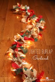 How To Decorate A Swag For Christmas Lighted Burlap Garland For Christmas How To Createcraftlove