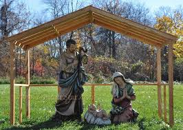 nativity outdoor large outdoor nativity set with wooden stable yonderstar