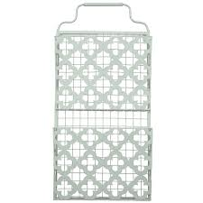 Mail Organizer Wall Home Office Collection U2013 Two Tier Decorative Metal Wall Filing Bin